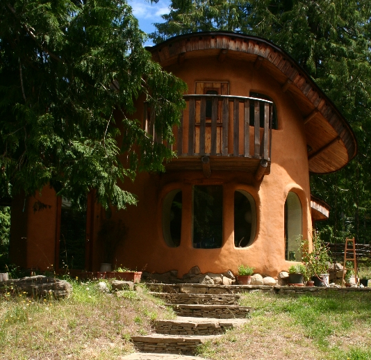 Cob House on Mayne Island in British Columbia